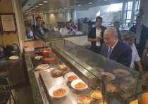 PRIME MINISTER Benjamin Netanyahu celebrate this week's political victory with a visit to the Knesse