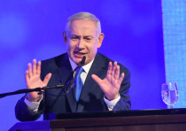 Prime Minister Benjamin Netanyahu speaks at a Likud Hannukah candle lighting, December 2, 2018