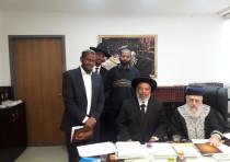 Rabbi Yosef, Rabbi Wobst and additional rabbis of the Ethiopian community, 2018.