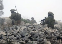 Pictures of IDF soldiers operating on the Lebanon border, released by Hezbollah
