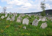 The Jewish cemetery in Buchach, Ukraine after being restored, 2018.
