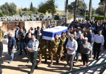 Funeral of Yoval Mor Yosef who was killed in a terror attack in Givat Asaf in the West Bank on Thurs