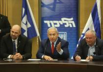 Prime Minister Benjamin Netanyahu and Likud members in December 24th, 2018