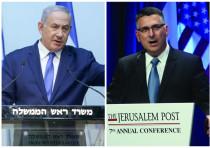 Benjamin Netanyahu (L) and Gideon Sa'ar (R)