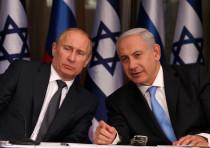 Russian President Vladimir Putin (L) and Prime Minister Benjamin Netanyahu (R)