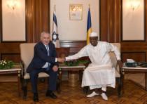 Prime Minister Benjamin Netanyahu meets Chad's President Idriss Deby in N'djamena