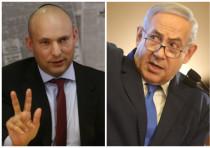 Naftali Bennett (L) and Benjamin Netanyahu (R)