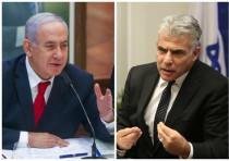 Prime Minister Benjamin Netanyahu and Yair Lapid