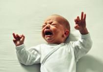 Baby crying [Illustrative]