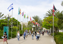 Tel Aviv University students on campus