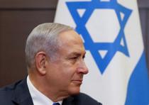 Prime Minister Benjamin Netanyahu attends a meeting with Russian President Vladimir Putin at the Boc