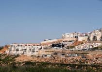 A general view shows the Israeli settlement of Beitar Illit in the West Bank April 7, 2019
