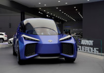A Toyota's electric vehicle (EV) concept RHOMBUS is displayed during the media day for Shanghai auto
