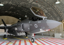An IAF F-35 plane at the bi-annual Blue Flag drill a massive exercise with pilots from the United St