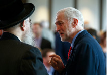 Jeremy Corbyn with Rabbi Pinter, former Labour Labour councillor