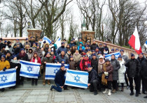 100 descendants of the Chelm death march survivors visited several sites in Poland while retracing t