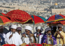 Ethiopian Israelis celebrate the holiday of Sigd in Jerusalem on November 27