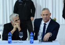 Blue and White leader Benny Gantz and MK Yair Lapid