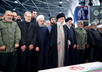 FILE PHOTO: Iran's Supreme Leader Ayatollah Ali Khamenei and Iranian President Hassan Rouhani pray n