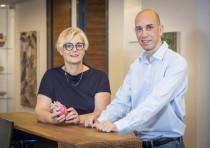 Accelmed Ventures II managing partner Dr. Irit Yaniv (L) and partner Amir Blatt