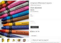 'Offensive Crayons' original pack