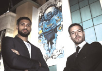 Chelsea players Ruben Loftus-Cheek (left) and Cesar Azpilicueta (right) and stand in front of the cl