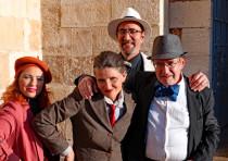 FROM LEFT: Cast members Victoria Gershkovich, Miriam Metzinger, Gavriel Weinberg and Daniel Fliegler
