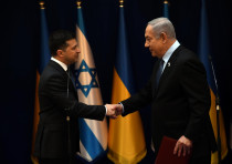 PM Benjamin Netanyahu meets with Ukrainian President Volodymyr Zelenskyy, Jan. 24, 2020