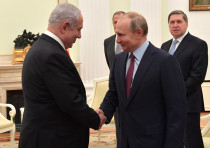 Prime Minister Benjamin Netanyahu meets with Russian President Vladimir Putin, January 30, 2020