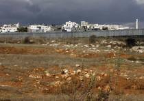 General view is seen of the area where Israel's Housing Ministry is discussing building near Atarot