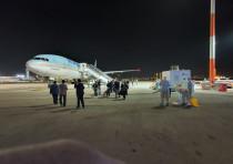 Korean Air KE957 at Ben-Gurion Airport, February 22, 2020