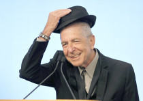LEONARD COHEN, one of many famous Buddhist Jews, accepts an award in 2012 for song lyrics. (Jessica
