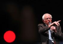 U.S. Democratic presidential candidate Bernie Sanders speaks during a rally in St Louis, Missouri, U