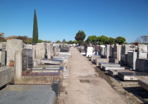 Old part of the Jewish cemetery of La Tablada, in the province of Buenos Aires, Argentina