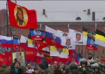 Thousands march in St. Petersburg in support of rebels in eastern Ukraine