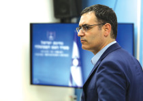 OUTGOING HEALTH Ministry director-general Moshe Bar Siman Tov appears at a press briefing at the Pri