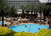 A general view of the pool at the Royal Beach Hotel in Eilat, Israel, June 12, 2018