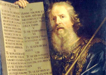 'MOSES WITH the Ten Commandments,' Philippe de Champaigne, 1648: Why not read them every day?
