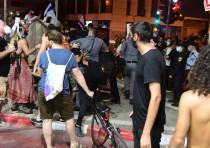 Protests in Tel Aviv turn violent, July 11, 2020