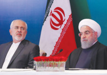IRANIAN PRESIDENT Hassan Rouhani (right) and Foreign Minister Javad Zarif. Who wanted to pay the pri