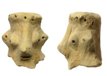 A clay head dated to the 10th century BC, found at Khirbet Qeiyafa