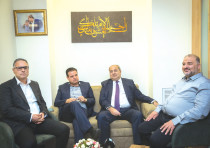 JOINT LIST MKs (from left) Mtanes Shehadeh, Ayman Odeh and Ahmad Tibi, and former MK Abd al-Hakeem H
