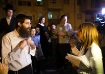 Colian, head of B'Zchutan, Israel's first ultra-Orthodox Jewish women's party, in Beit Shemesh