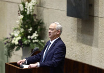 Defense Minister Benny Gantz at the Knesset plenum, Oct. 15, 2020