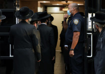 The Congregation Yetev Lev D'Satmar synagogue on October 19, 2020 in Williamsburg. A wedding planned