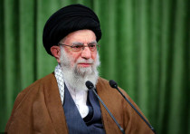 Iran's Supreme Leader Ayatollah Ali Khamenei delivers a virtual speech, on the occasion of the Proph