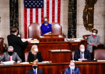 Joint session of Congress to certify Joe Biden as the next US president in the US Capitol in Was