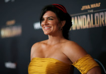 "Cast member Carano poses at the premiere for the television series ""The Mandalorian"" in Los Angeles"