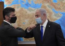 Prime Minister Benjamin Netanyahu meeting with the first UAE Ambassador to Israel, Muhammad Mahmoud