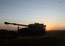 Bringing more IDF tanks to the border with Gaza, Southern Israel, following heavy rocket and missile